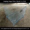 Metal folding collapsible wire mesh container