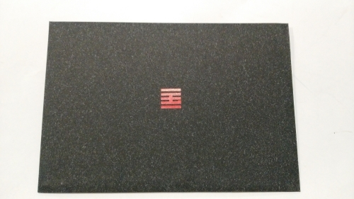 Customized envelope-like grey kraft gift bag printing for China Academy of Art