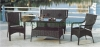 Two seater sofa set furniture wicker patio sofa furniture set