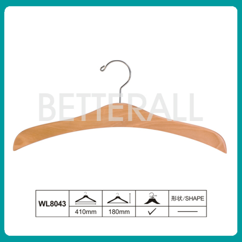 wooden hair hanger custom hair extension suit hanger