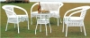 White color wicker outdoor table chair sale outdoor furniture
