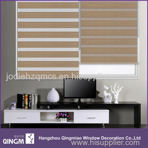 Indoor Manual Double Folded Zebra Blind Washroom Blind