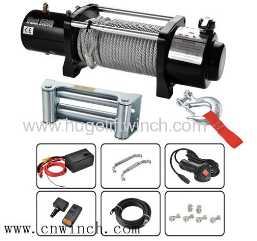 9500lbs ELECTRIC 4X4 WINCH W/ KEYCAM CLUTCH HANDLE