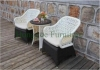 Outdoor patio furniture rattan wicker table chair set