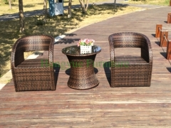 Rattan wicker table chair set patio rattan furniture sets