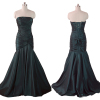 ALBIZIA Strapless off shoulder high waist Beading Stones lady lastest fashion Taffeta Mermaid prom dress