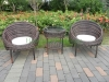 Rattan table chair set patio wicker furniture sets sale