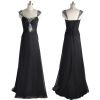 ALBIZIA Beading Black Sexy Hot Sale Prom Dresses Long Sweetheart Chiffon A Line Party Evening Dresses
