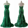 ALBIZIA 2015 best Selling Satin Long Prom Dresses Layered Floor Length Satin Mermaid Evening Dress