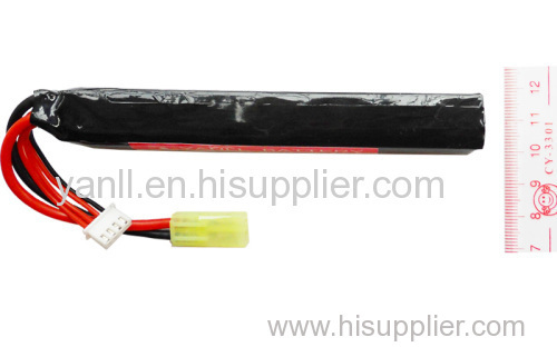 RC LiPo Airsoft Gun Battery Pack 11.1V 1500mAh with 19*20*125mm Size RC LiPo Battery Pack