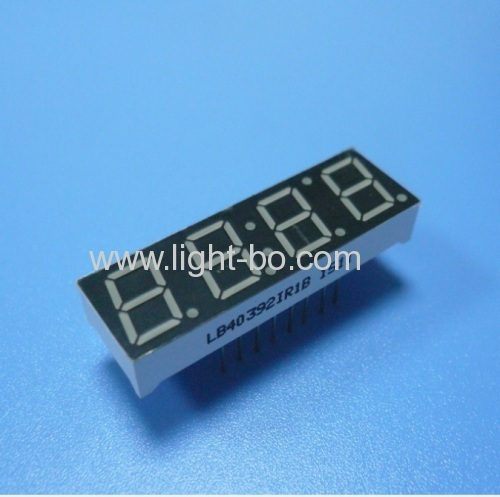 Common anode  Ultra red Four Digit 0.39inch 7 segment led display for temperature humidity indicator