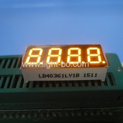 "Super bright amber 9.2mm(0.36"") 4 digit 7 segment led display common cathode for digital indicator"