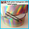 Minrui the latest silver background hologram eggshell sticker holographic strip security label paper roll wholesale