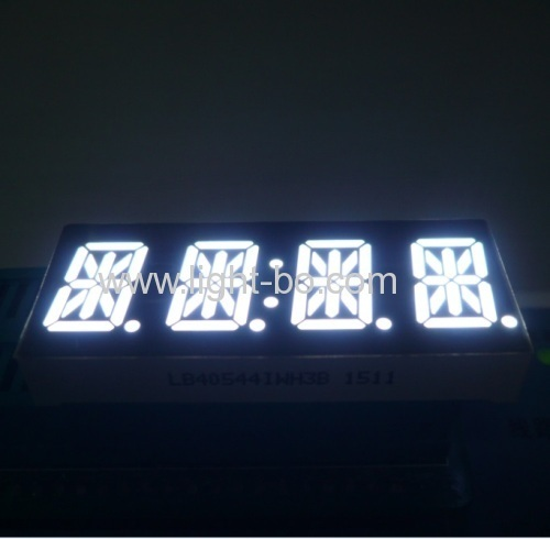 "Custom ultra white common Anode 4 digit 0.54"" 14 segment LED display for instrument panel"