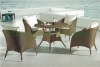 Rattan outdoor dining set furniture patio dining table chair set
