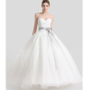 ALBIZIA New Style beautiful Ivory Sweetheart Floor-length Ball Gown Tulle Lace A Line Wedding Dresses for Bridal