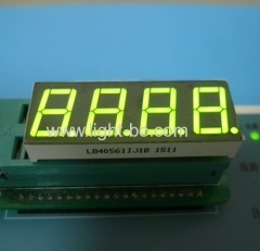 "Super green common anode 0.56"" 4 digit 7 segment led display for digital indicator"