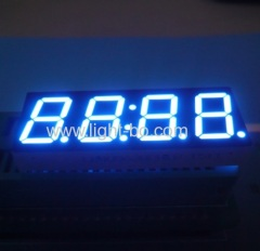 "Ultra blue 4 digit 0.56"" 7 segment led clock display for home appliances"