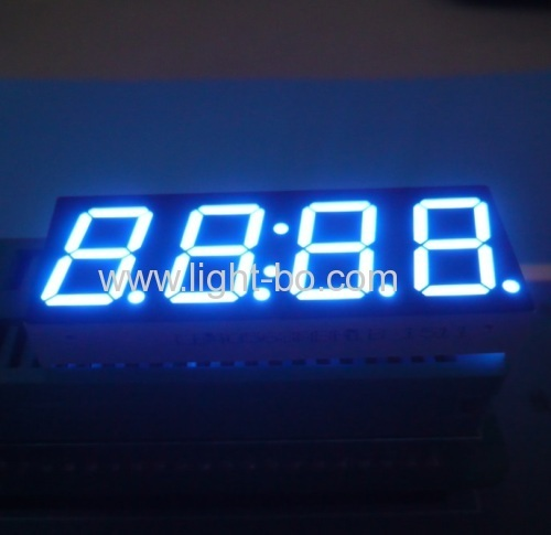 Ultra blue 4 digit 0.56  7 segment led clock display for home appliances