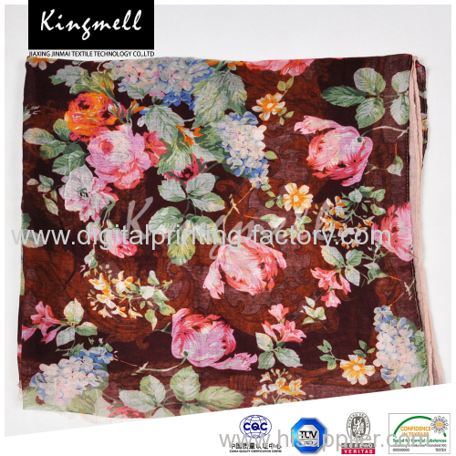 2015 Fall custom design silk fashion long scarf