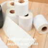 Self Adhesive Blank Tamper Evident Labels Roll Destructible Paper Sticker Roll