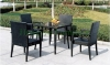 Patio dining rattan furniture sale wicker dining table chairs