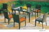 Wicker dining table chairs set patio furniture sale