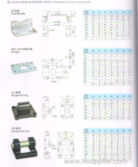 DNC cylinders(ISO6431) standard cylinder accessories