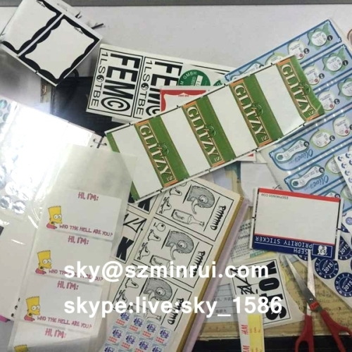 Ultra Adhesive Vinyl Eggshell Destructive Sticker Label Destructible Graffiti Eggshell Sticker