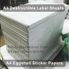 Factory Provide A4 Destructive Eggshell Sticker Papers Custom Breakable Ultra Destructible Vinyl Materials in A4 Sheets