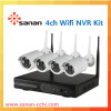 wholesale wireless security camera system 4ch wifi NVR kit 720P