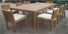 Outdoor patio rattan dining table set furniture solutions