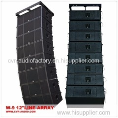 dual 12 inch outdoor sound line array speaker