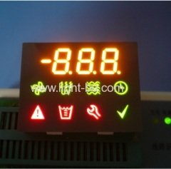 Custom amber / green / red 7 segment led display for instrument panel