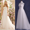 ALBIZIA Simple Lace Tulle Real Photos informal A Line Sweep/Brush Wedding Dresses