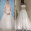 ALBIZIA Gorgeous Beading Tulle Sheer Back Ball Gown A-line monsoon Wedding Dresses