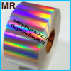 Minrui supply the largest huge roll length 2000M self adhesive type plain hologram destructible security label paper