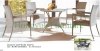 Patio dining table chair in rattan materials outdoor table chair