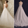 ALBIZIA Beading V-neck Sequin Organza Ball Gown A Line Sweep/Brush Wedding Dresses