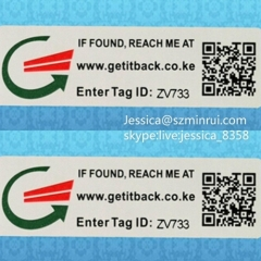 Custom Serial Number Barcode Sticker One Time Use Label Anti-counterfeit Security Tamper Proof Barcode Sticker