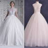 ALBIZIA Sexy See Through Bodice Scoop Lace Beads Ball Gown A Line Tulle Wedding Dresses