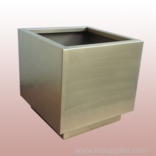 square modern decoration metal flower vase