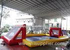 Funny Red Inflatable Soccer Arena For Playing Bubble Ball Football