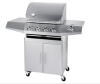 4Burner Stainless Steel 1Side Burner Gas Grill BBQ