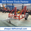 Cable Conductor Drum Carrier equipped with the Hand Winch