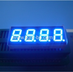 "4 digit 0.4"" ultra bright blue common anode 7 segment led display for temperature indicator"