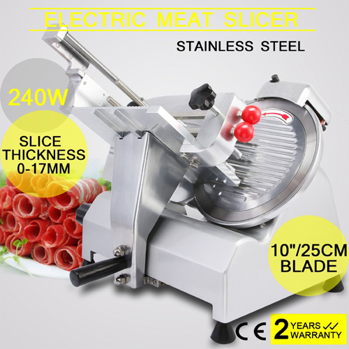 OrangeA Meat Slicer Electric Slicer 10 Inch Veggies Cutter for Massive Beef Vegetable Fruit Slicing Restaurants Kitchens
