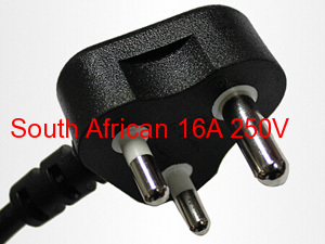 wholeprice high quality South African power plug cord