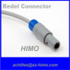3pin push pull Lemo plug Plastic redel connector with solder type
