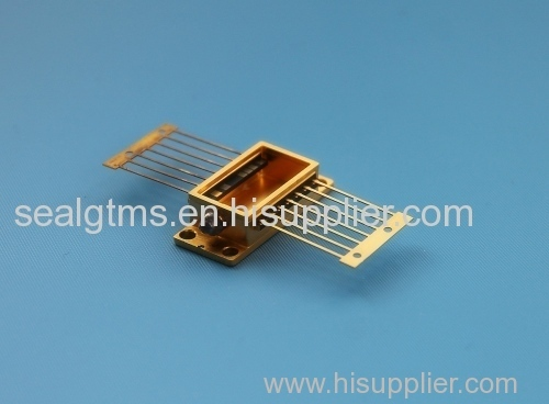 hybrid package glass component gold plated